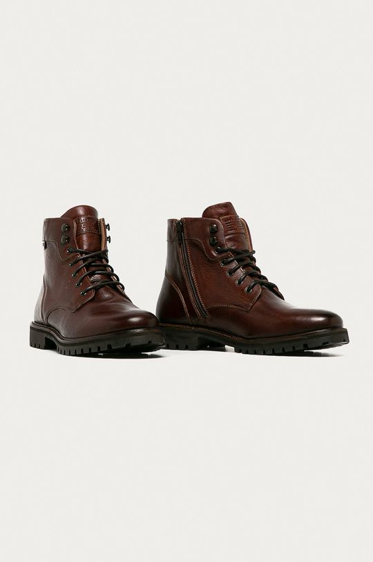 Levi's - Kožené boty hnědá