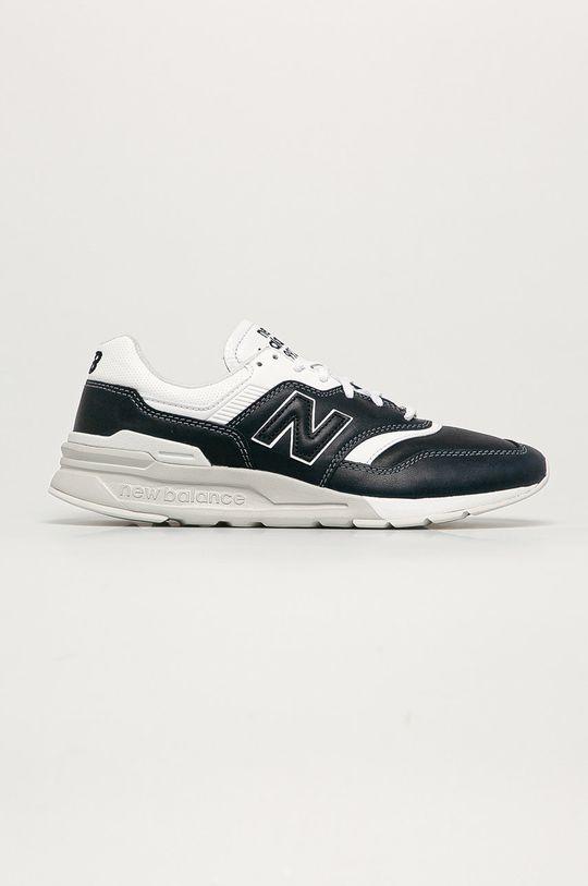 námořnická modř New Balance - Kožené boty CM997HEO Pánský