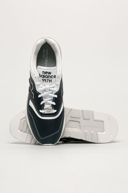 námořnická modř New Balance - Kožené boty CM997HEO