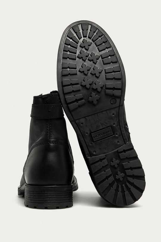 černá Jack & Jones - Kožené boty