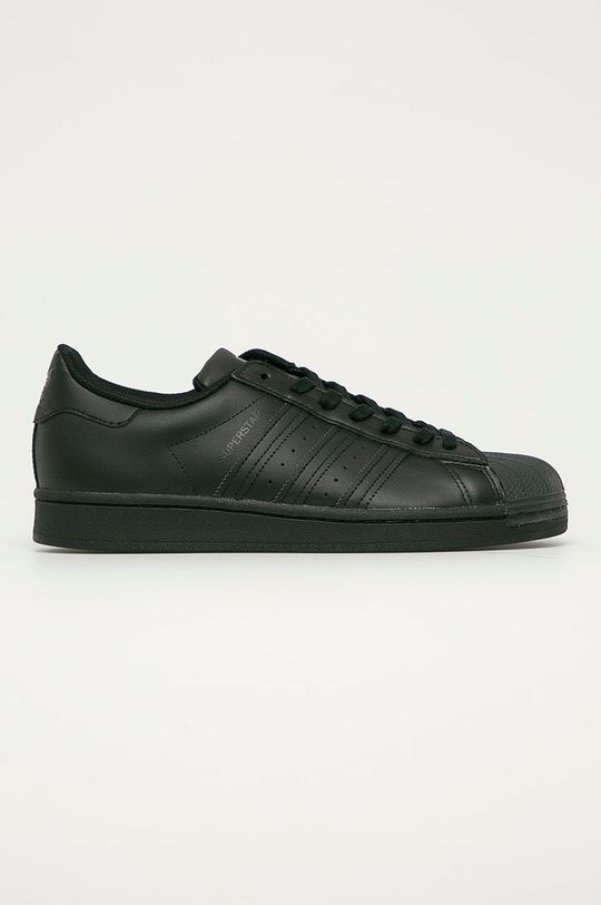 negru adidas Originals - Ghete de piele Superstar De bărbați