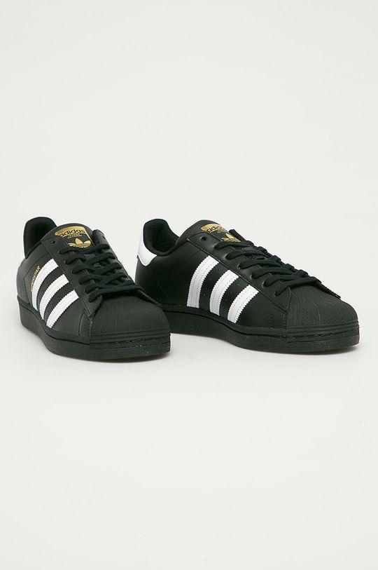 adidas Originals - Buty skórzane Superstar czarny
