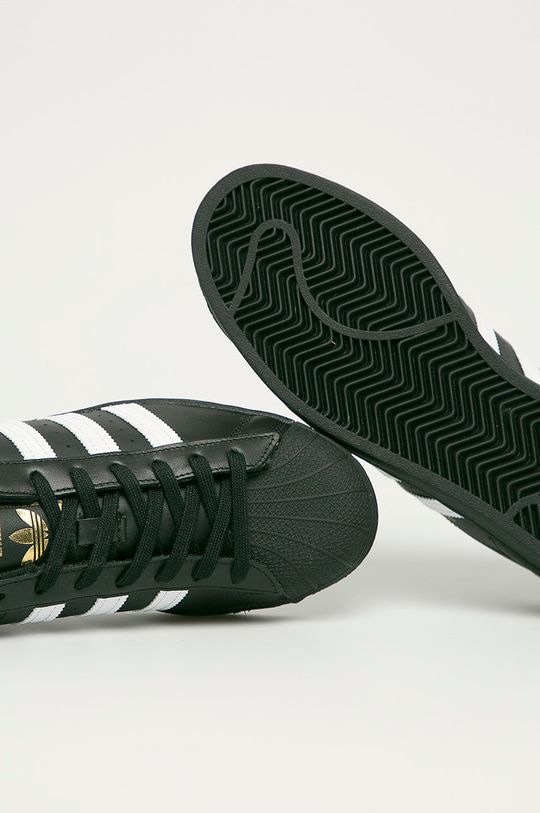 czarny adidas Originals - Buty skórzane Superstar