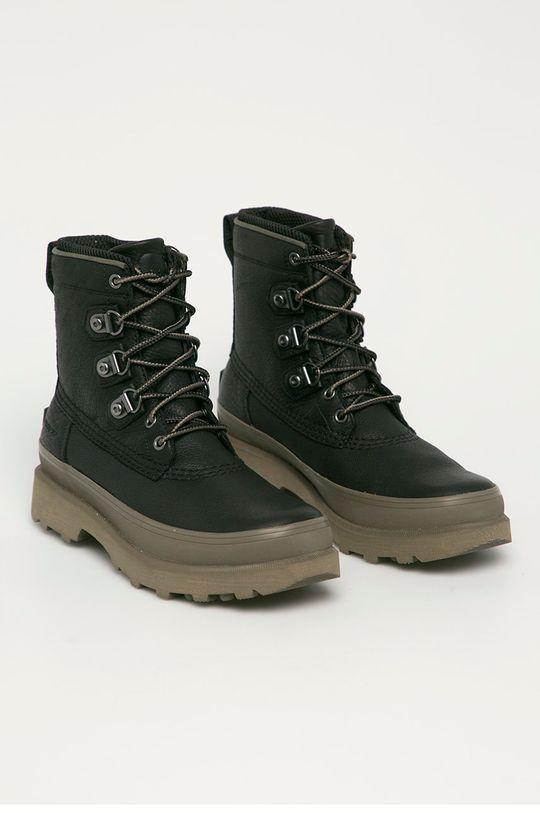 Sorel - Kožená obuv Caribou Street WP čierna