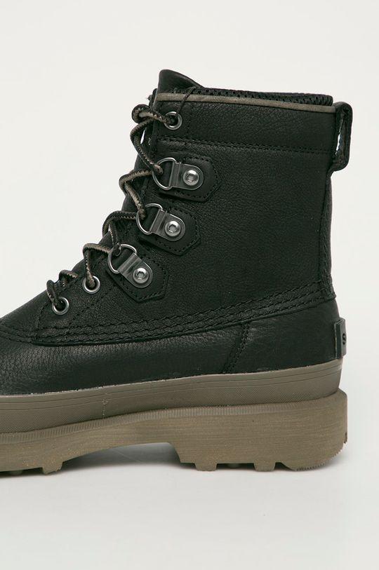 Sorel - Kožená obuv Caribou Street WP  Zvršok: Prírodná koža Vnútro: Textil Podrážka: Syntetická látka