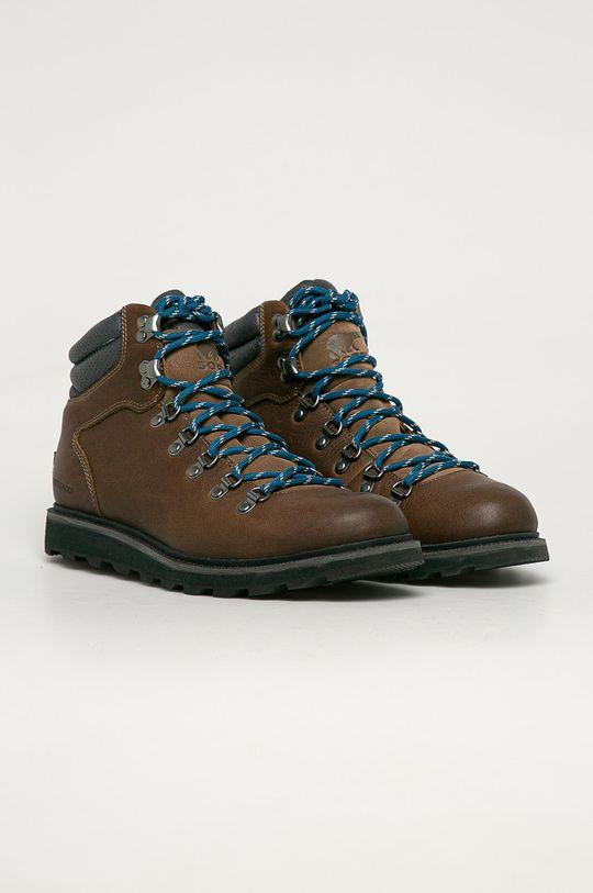 Sorel - Buty skórzane Madson II Hiker WP brudny brązowy