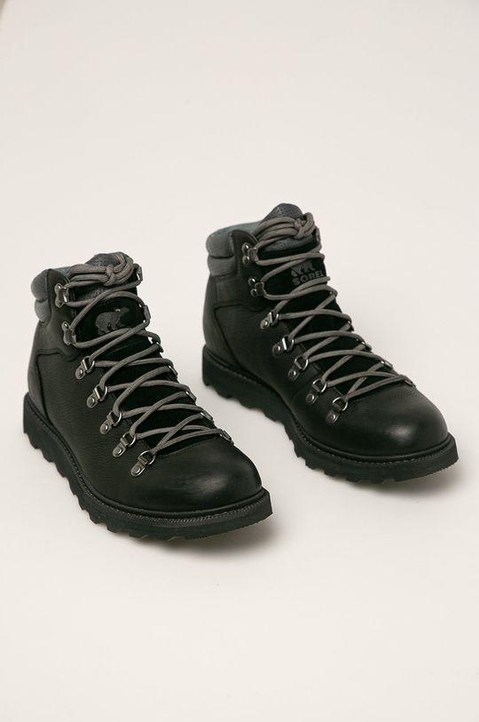 Sorel - Buty skórzane Madson II Hiker WP czarny