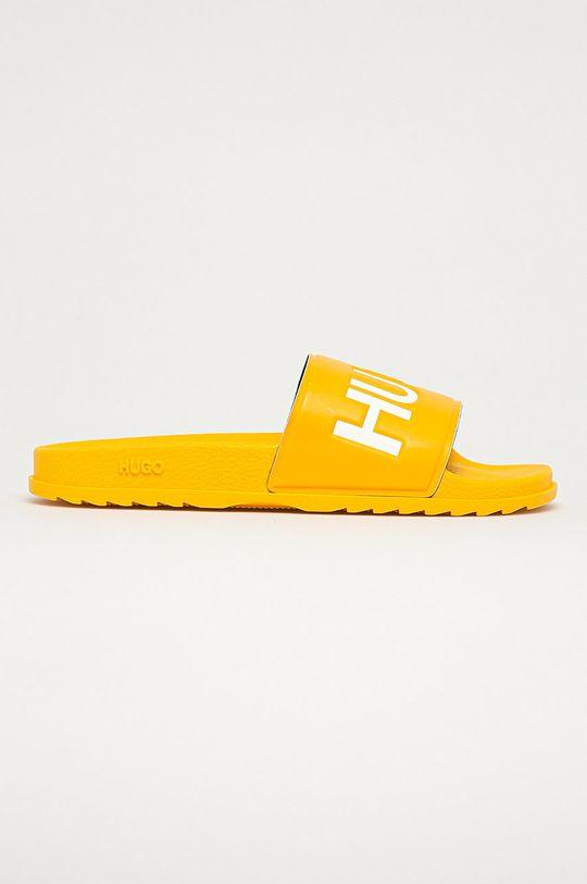 żółty Hugo - Klapki Męski