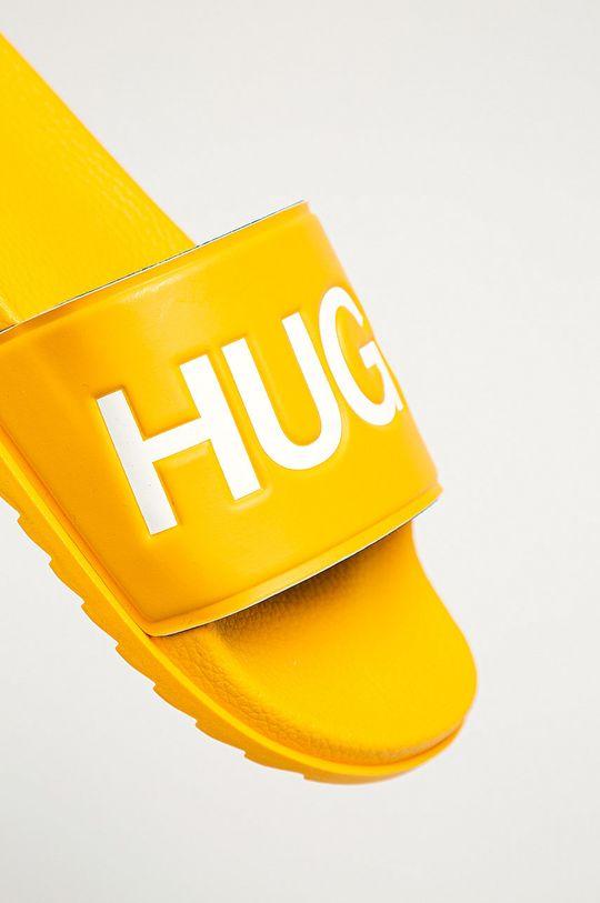żółty Hugo - Klapki