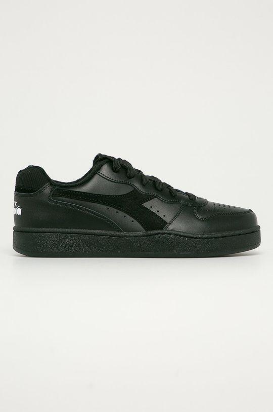 černá Diadora - Kožené boty Mi Basket Low Pánský