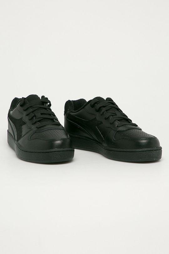 Diadora - Kožené boty Mi Basket Low černá