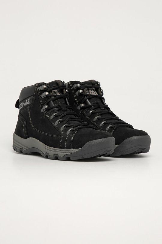 Caterpillar - Semišové topánky Supersede čierna