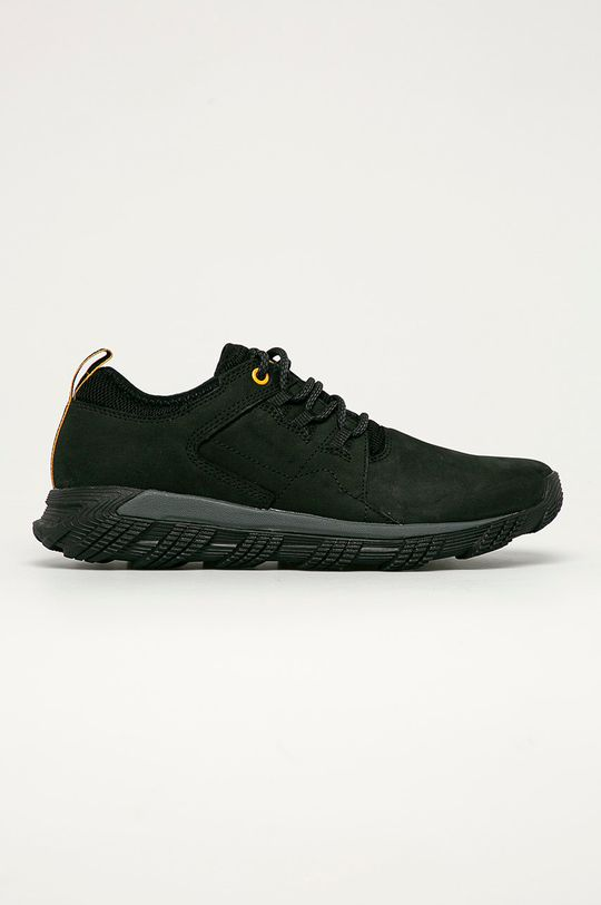 černá Caterpillar - Kožené boty Electroplate Pánský