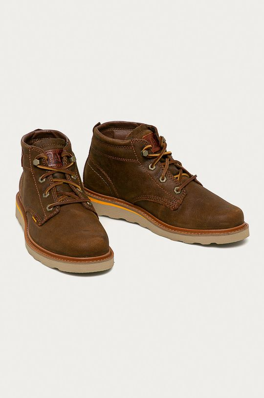 Caterpillar - Kožené boty Jackson hnědá