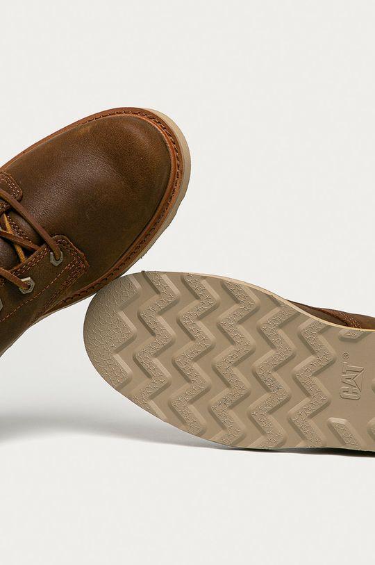 hnědá Caterpillar - Kožené boty Jackson