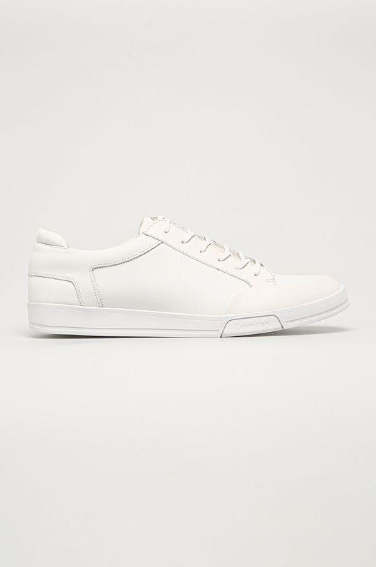 biela Calvin Klein - Kožená obuv Pánsky