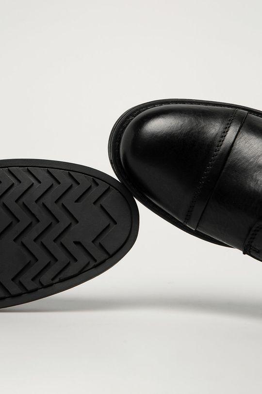 čierna Jack & Jones - Kožená obuv