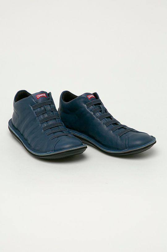 Camper - Kožené boty Beetle modrá