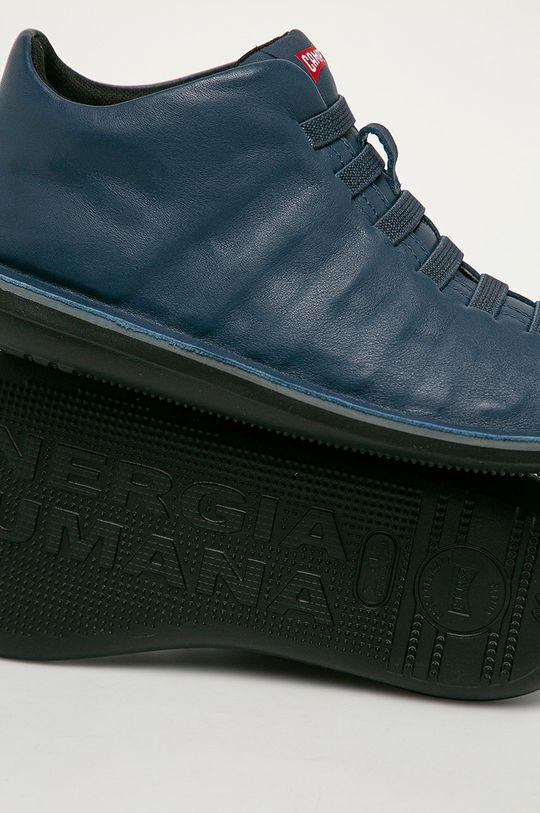 modrá Camper - Kožené boty Beetle