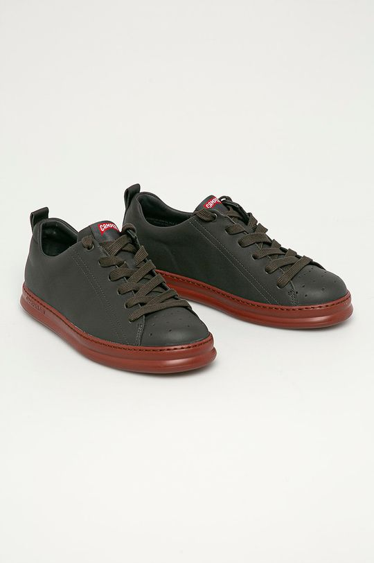 Camper - Kožené boty Runner Four šedá