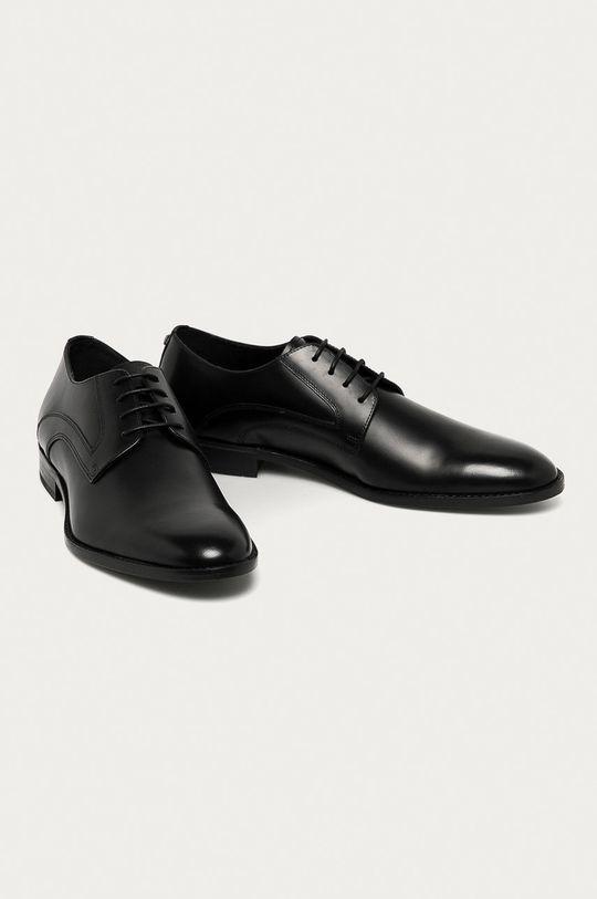 Karl Lagerfeld - Kožené polobotky černá