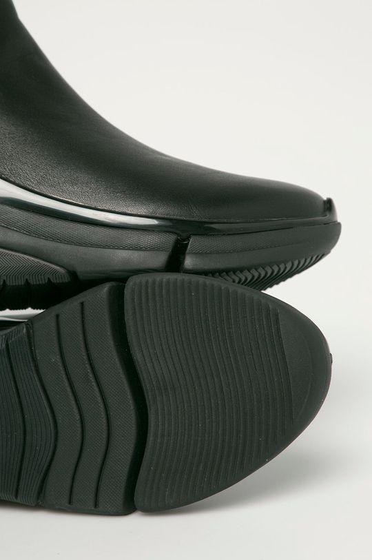 Karl Lagerfeld - Kožené kotníkové boty Pánský