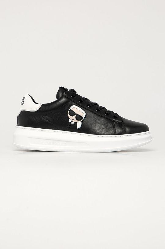 černá Karl Lagerfeld - Kožené boty Pánský