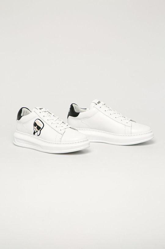 Karl Lagerfeld - Buty skórzane biały