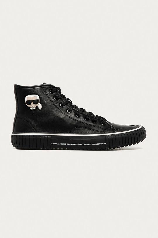 černá Karl Lagerfeld - Kožené kecky Pánský