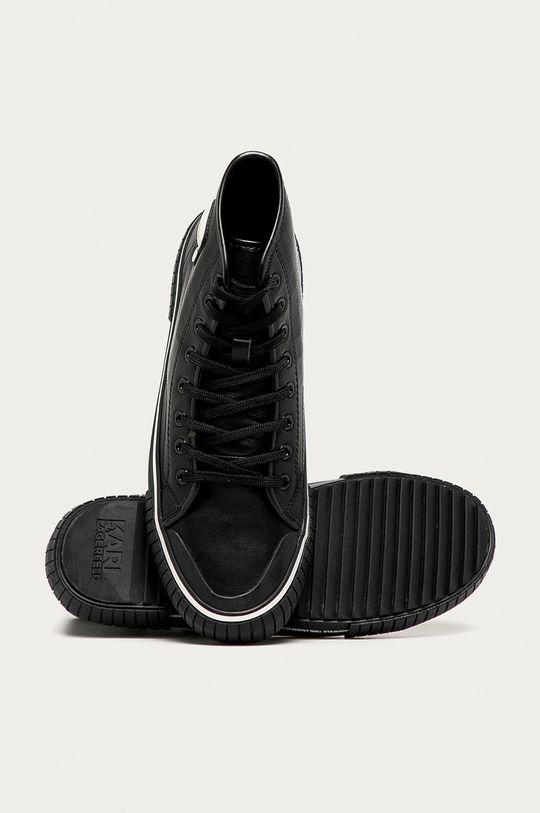 černá Karl Lagerfeld - Kožené kecky