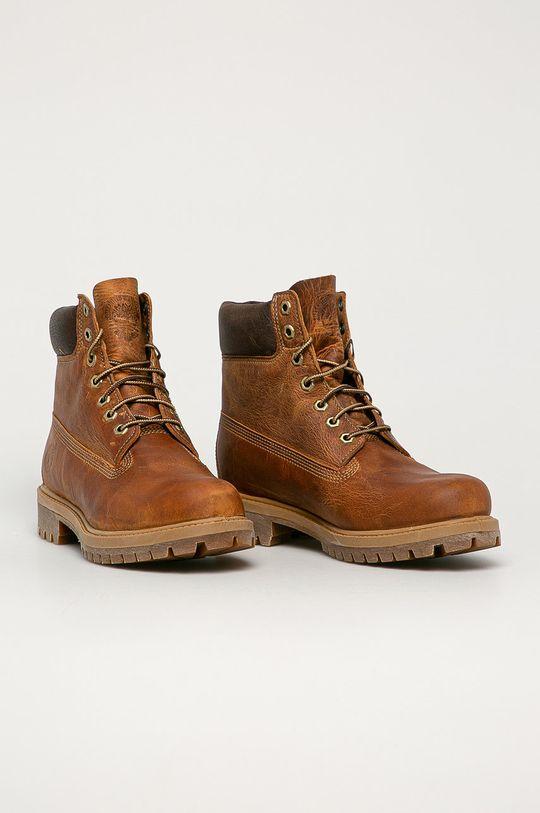 Timberland - Kožené boty Heritage 6