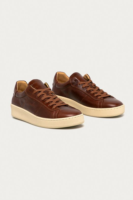 Gant - Buty skórzane Leville brązowy