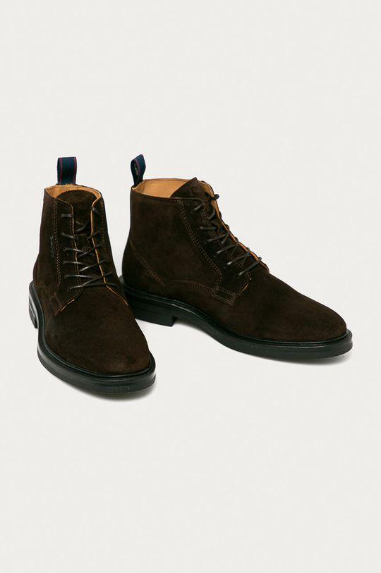 Gant - Semišové boty Kyree hnědá