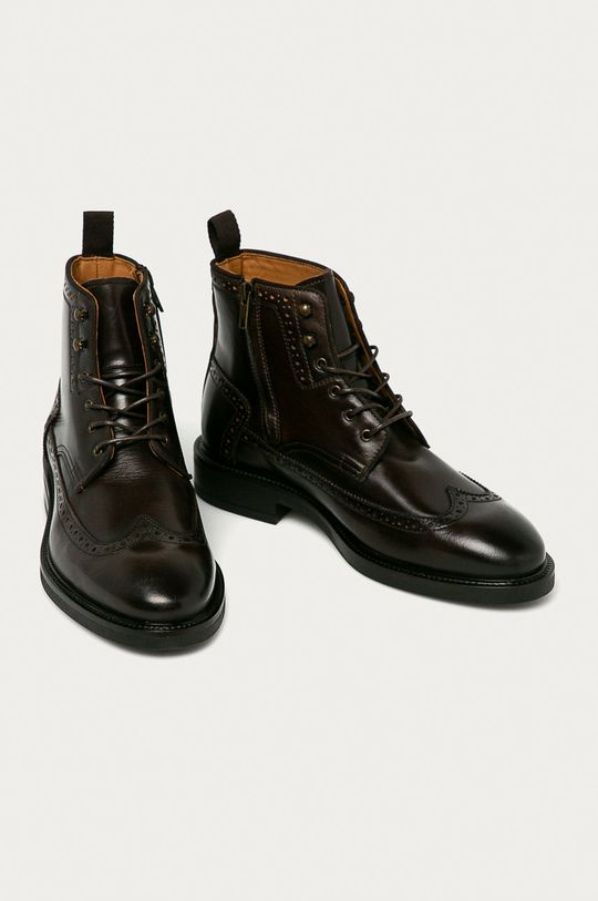 Gant - Buty skórzane Flairville brązowy