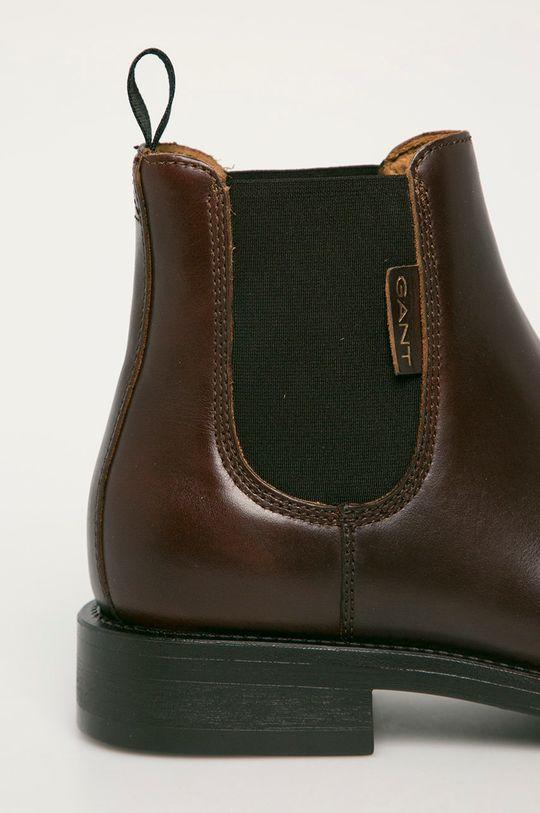 Gant - Sztyblety skórzane Brockwill brązowy