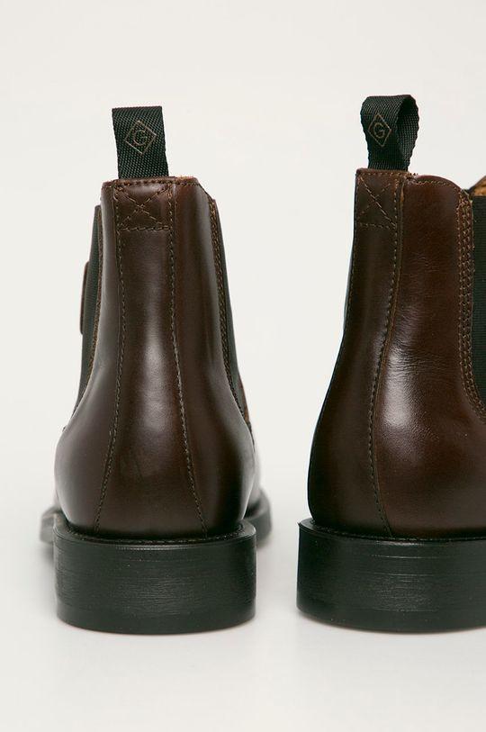 brązowy Gant - Sztyblety skórzane Brockwill