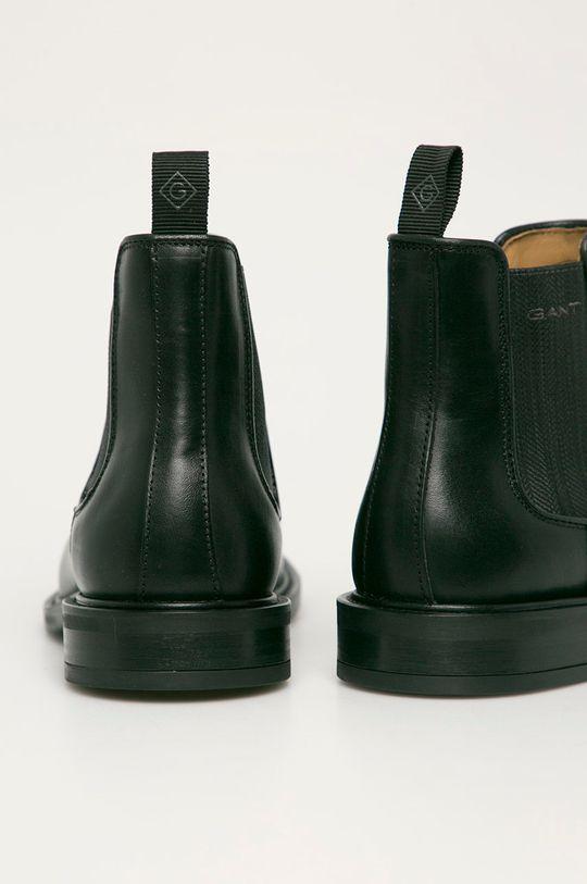 czarny Gant - Sztyblety skórzane St Akron