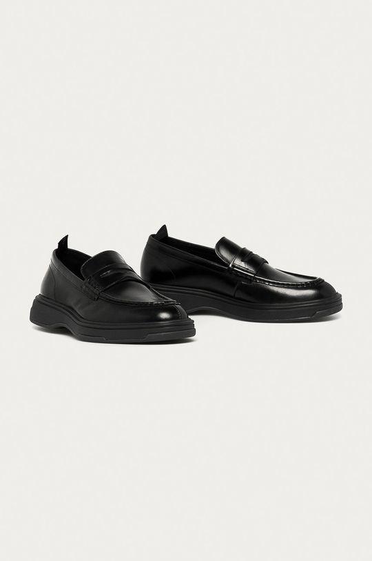 Calvin Klein - Mokasyny skórzane czarny