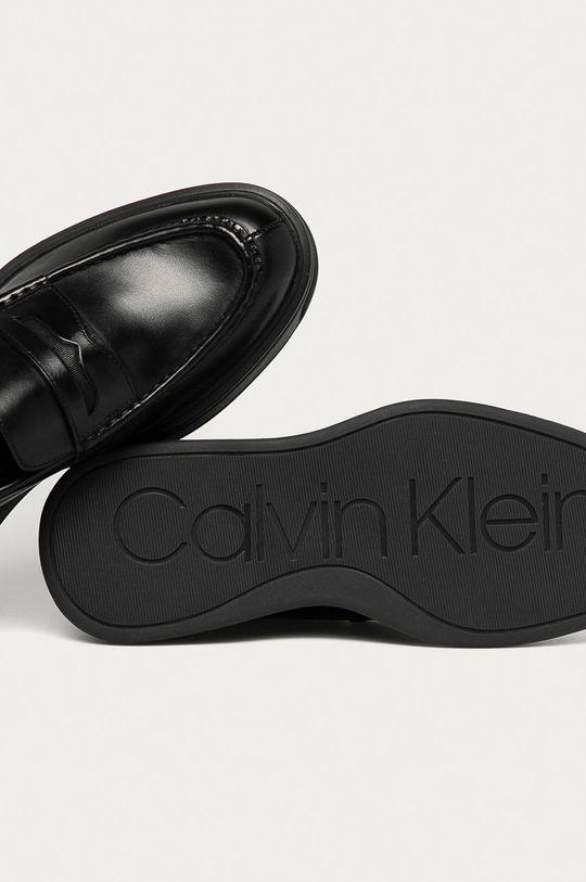 czarny Calvin Klein - Mokasyny skórzane