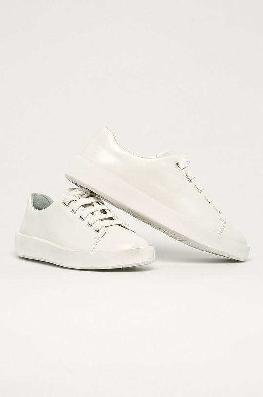 Camper - Kožená obuv Courb biela