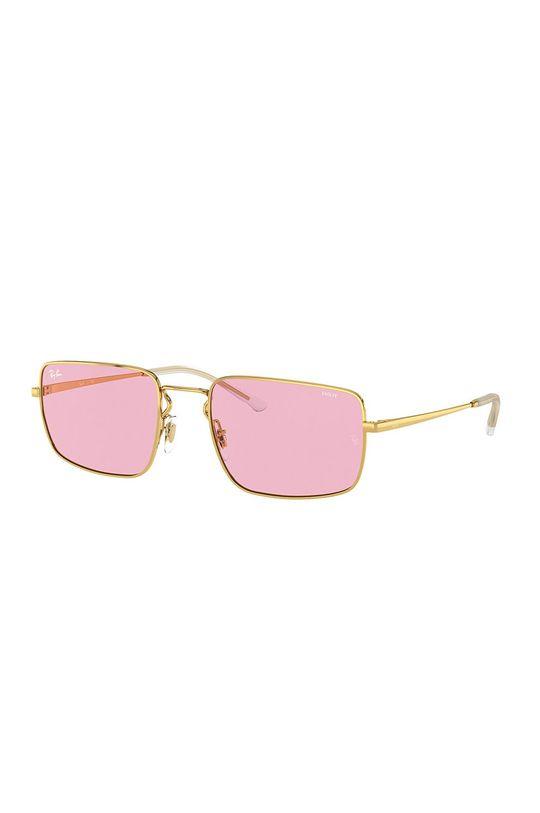 złoty Ray-Ban - Okulary RB3669 Damski