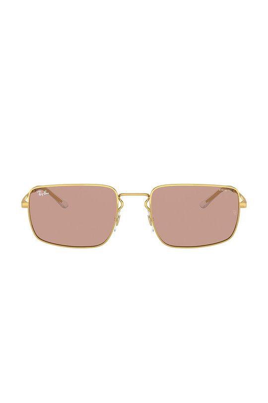 Ray-Ban - Okulary 0RB3669 złoty