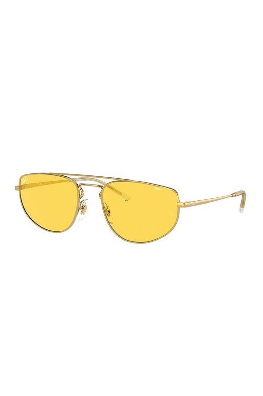 złoty Ray-Ban - Okulary RB3668 Unisex