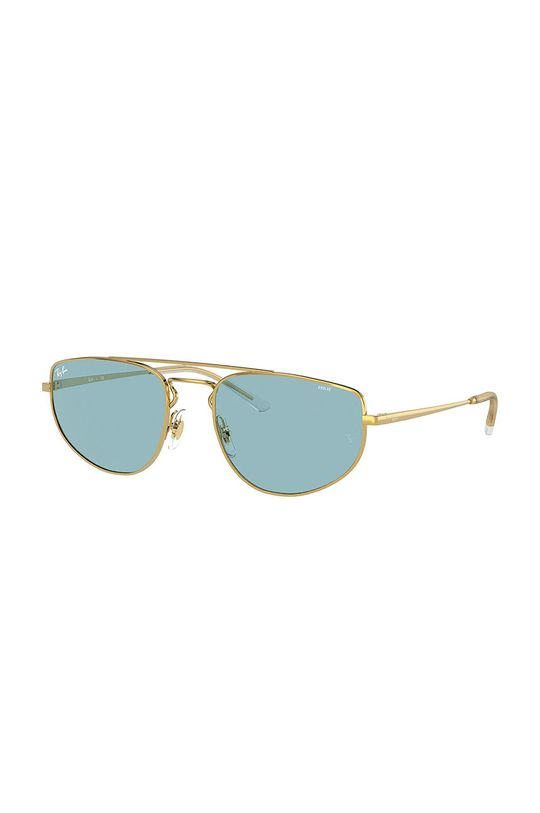 złoty Ray-Ban - Okulary 0RB3668 Unisex
