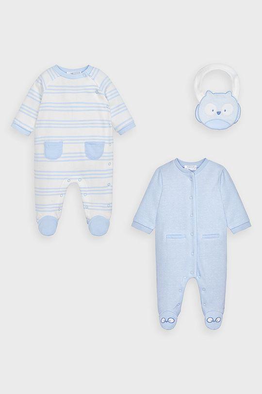 svetlomodrá Mayoral Newborn - Overal pre bábätká (2-pak) Chlapčenský
