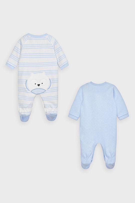 Mayoral Newborn - Overal pre bábätká (2-pak) svetlomodrá
