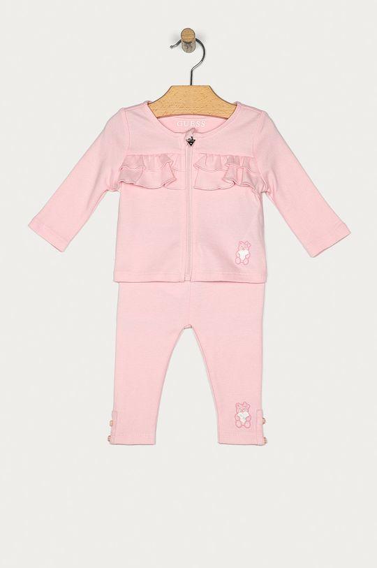 roz Guess Jeans - Compleu bebe 62-76 cm De fete
