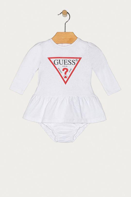 alb Guess Jeans - Rochie bebe 62-96 cm De fete