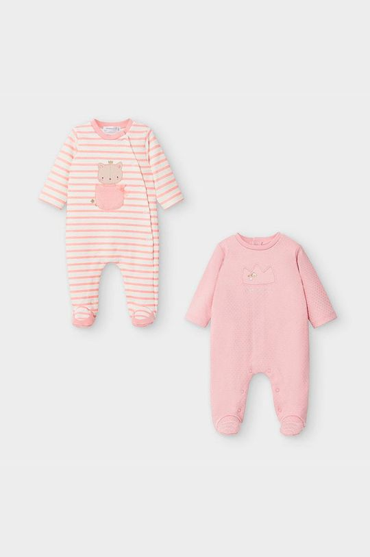 ružová Mayoral Newborn - Dupačky pre bábätká 55-86 cm (2-pak) Dievčenský