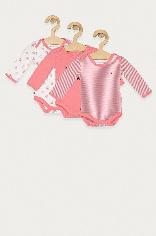 roz Tommy Hilfiger - Body bebe 56-92 cm (3-pack) De copii